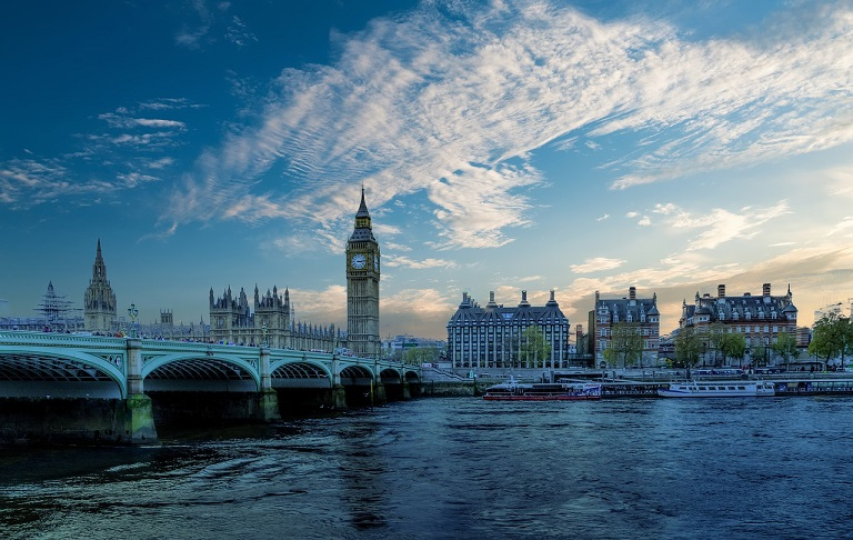 イギリスの都市部の風景