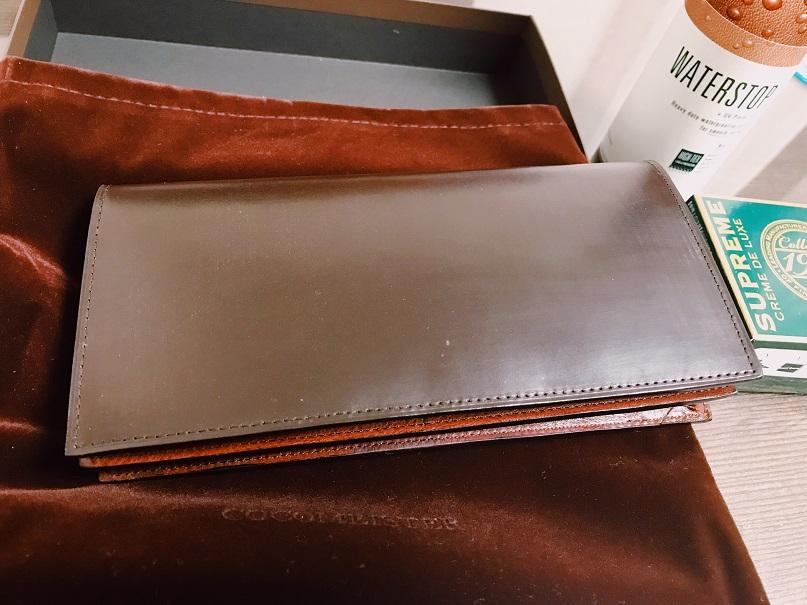 ココマイスター長財布の全体像