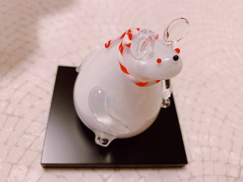 干支の飾りつけネズミ