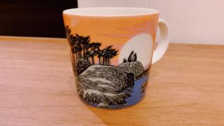 夕焼けのムーミンマグカップ