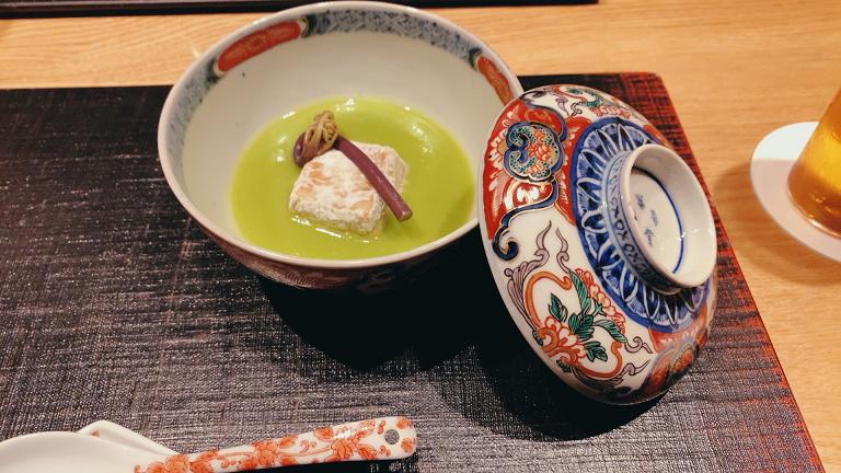 蕗の薹豆腐 うすい豆すり流し 蕨