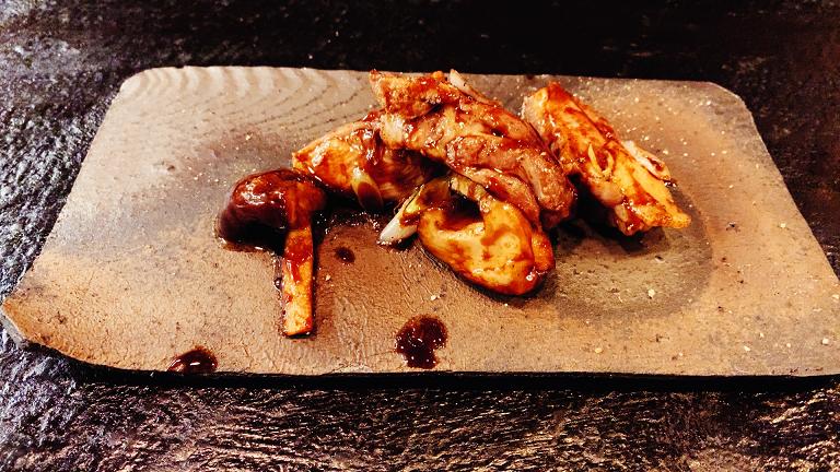 比内地鶏の炒め