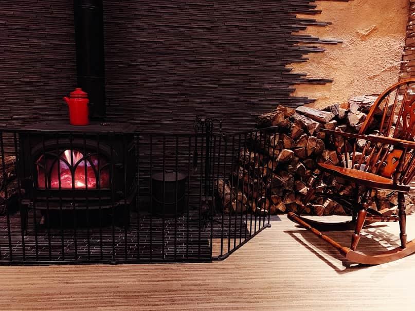アンシェントホテルの暖炉