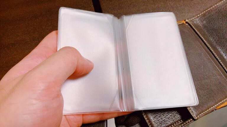 タケオキクチのカードケースのクリアホルダ