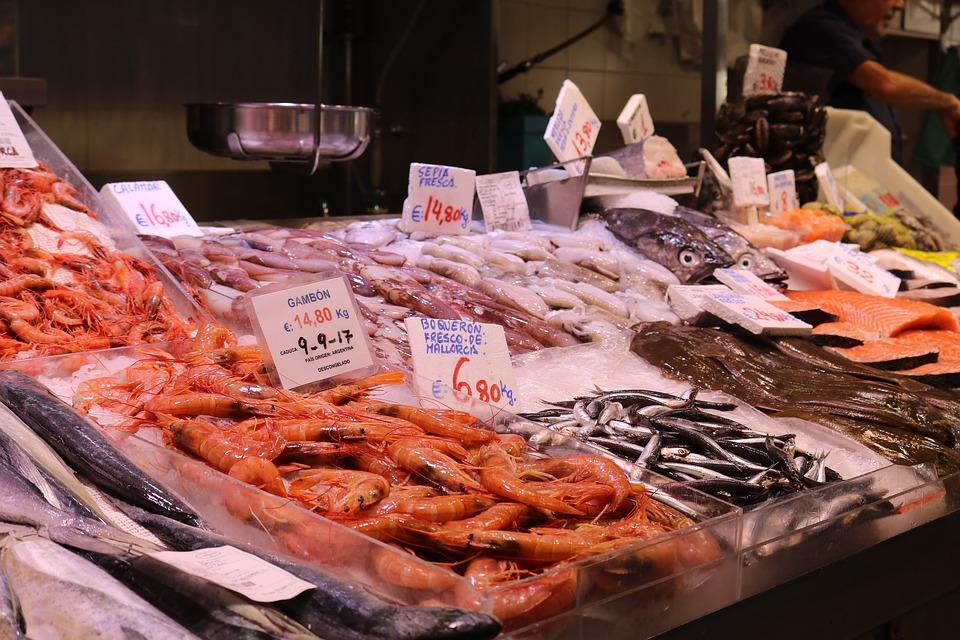 魚市場の様子