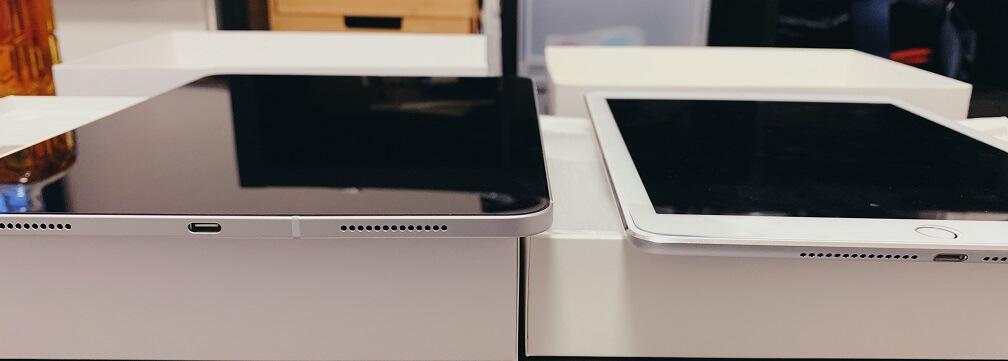 iPad Air2とiPad Proの比較画像