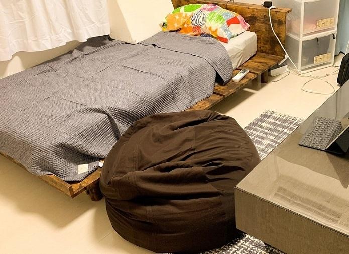 ワッフルケットを置いた部屋