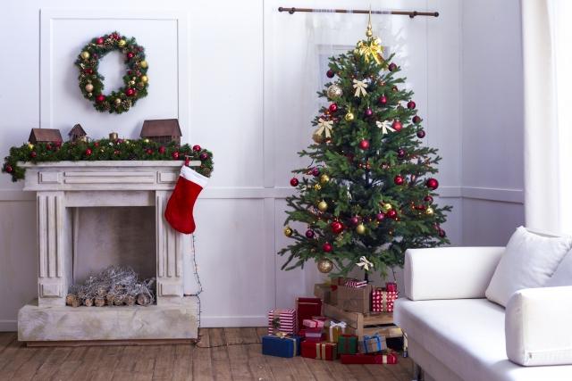 クリスマスのディスプレイの様子
