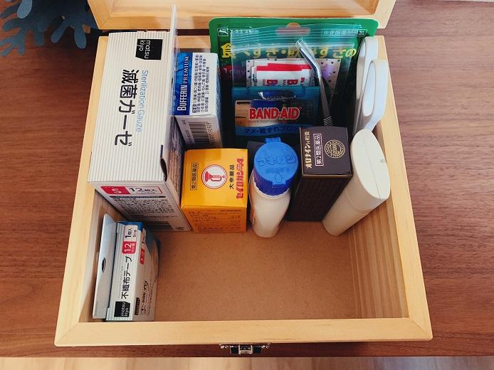 我が家の薬箱の中身
