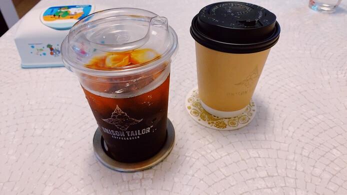 人形町ユニゾンテイラーの水出しコーヒーとホットコーヒーのテイクアウト