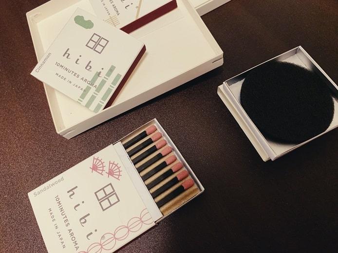 hibiのお香スティック 日本シリーズ3種