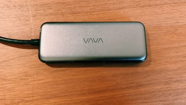 vavaのUSB-C HUBの表面