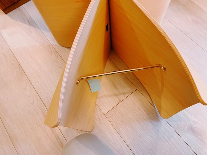 天童木工のバタフライスツールの金具